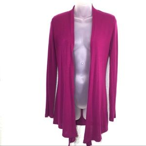 Chris & Carol fuchsia purple cardigan sweater M